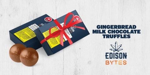 Gingerbread milkchocoalte truffle bytes by Edison Bytes